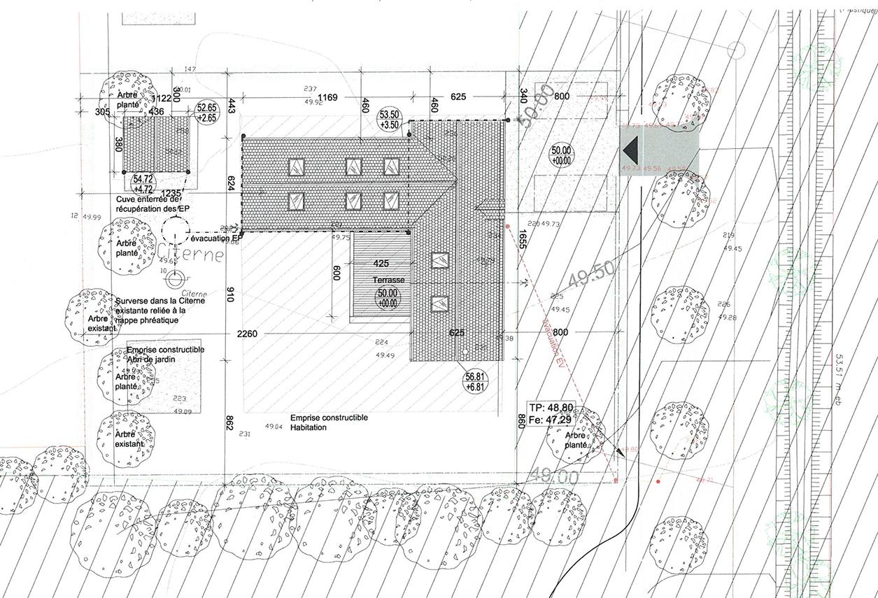 plan de masse dune maison